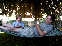 Ryan Saxelby and the Hammock - Eric & Jen's BBQ